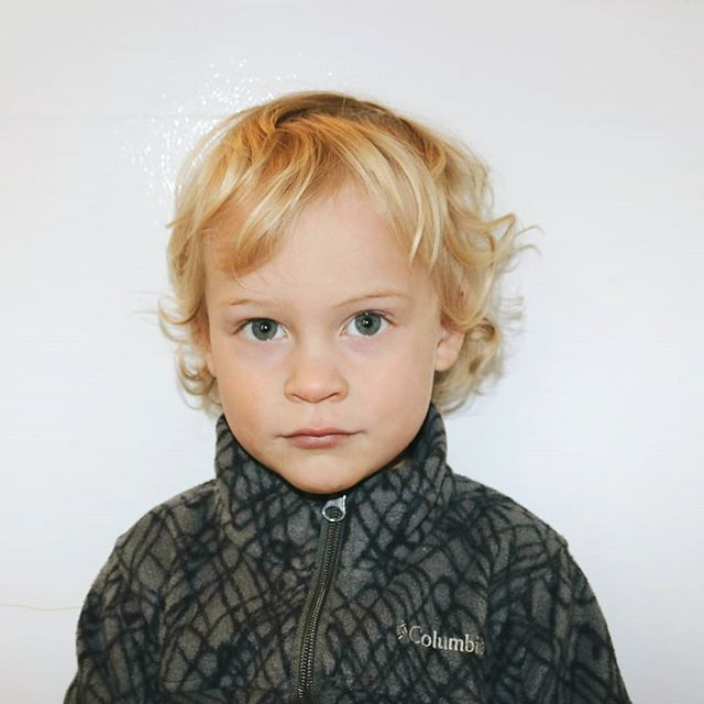 Toddler passport pic 😍  En route to France and England for a week with Jeffy -- Send us good vibes for calm & safe travels and a fun week abroad visiting friends!