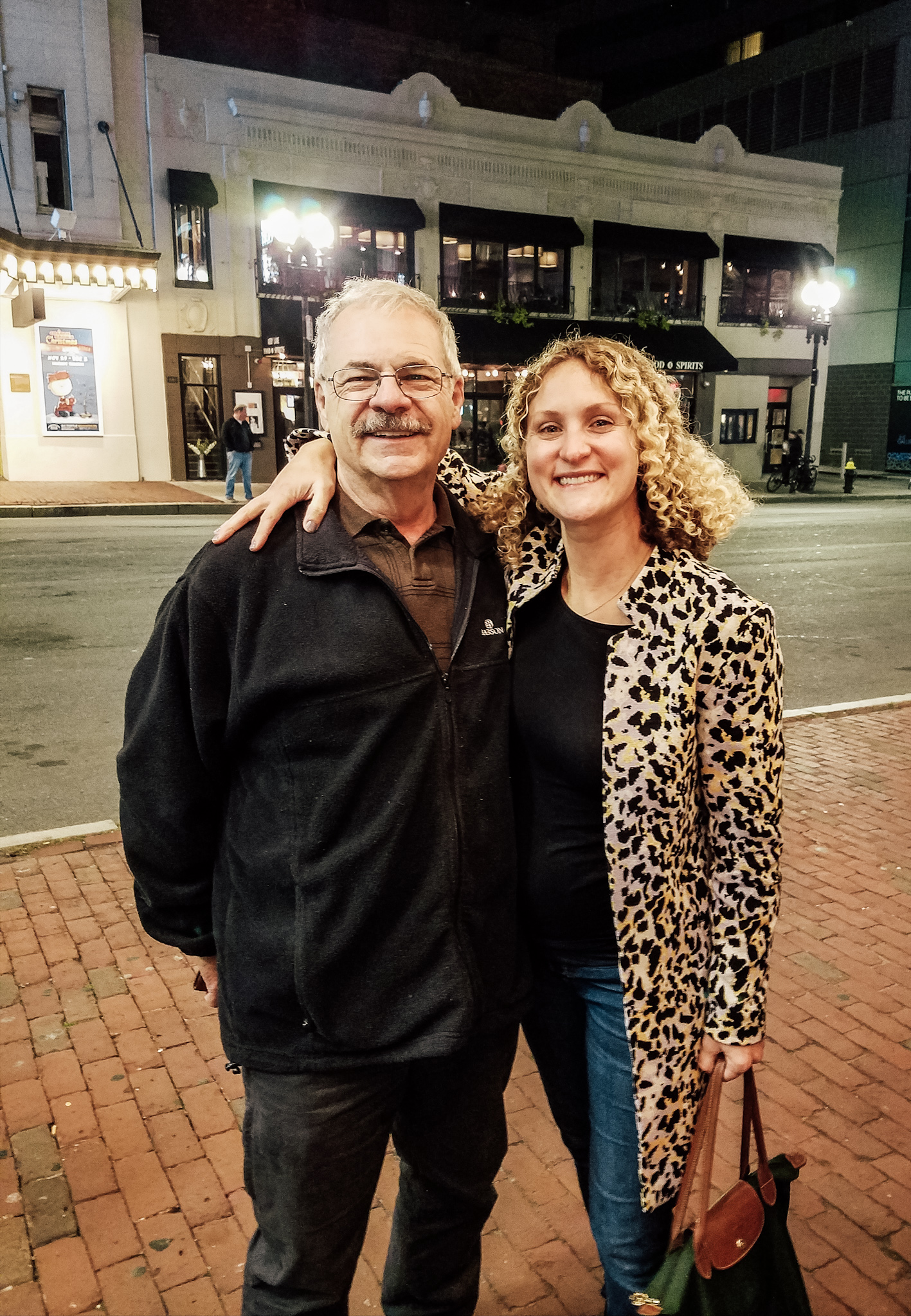 Me and my dad before the Gad Elmaleh show in Boston <3
