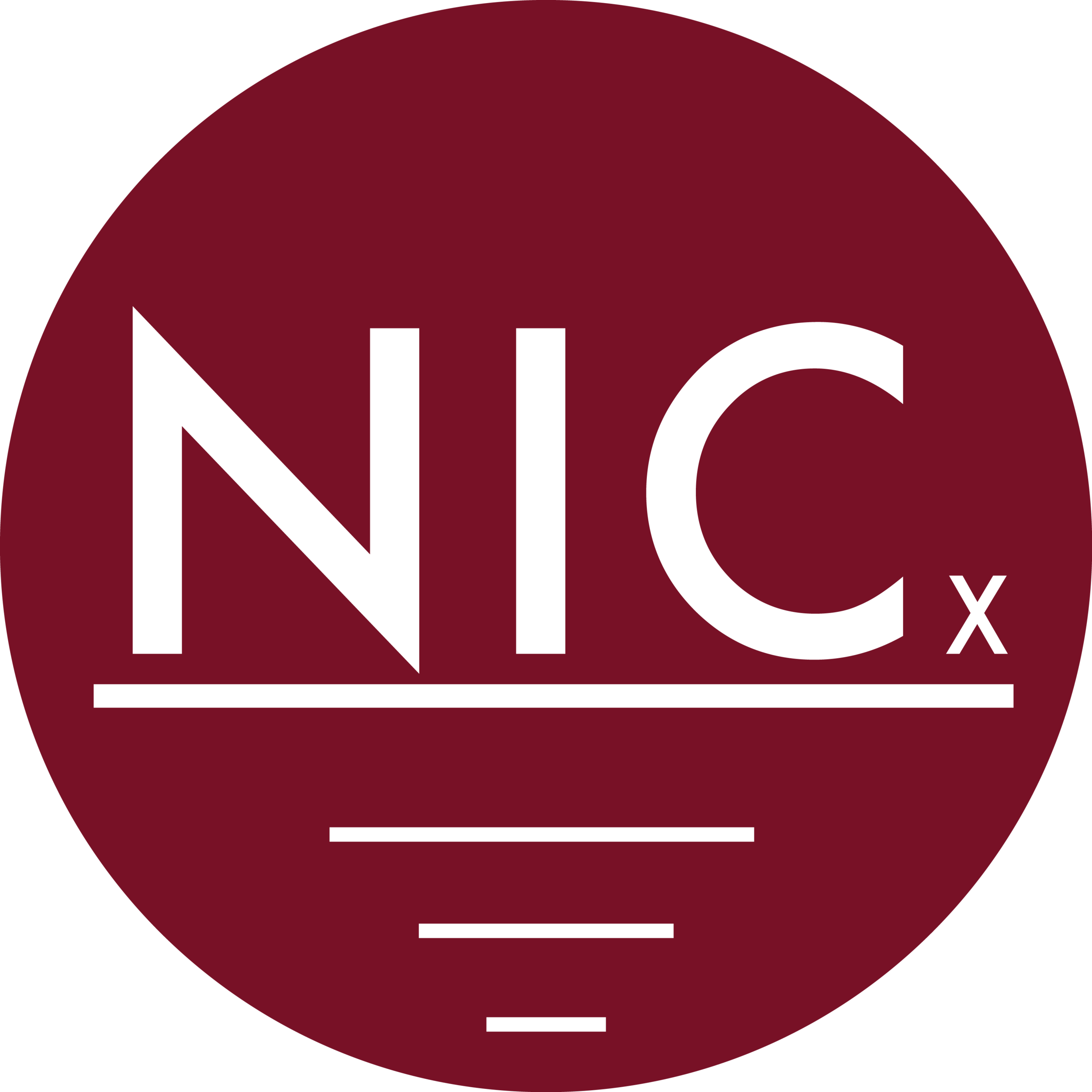Logo for NICx talks at North Idaho College.
