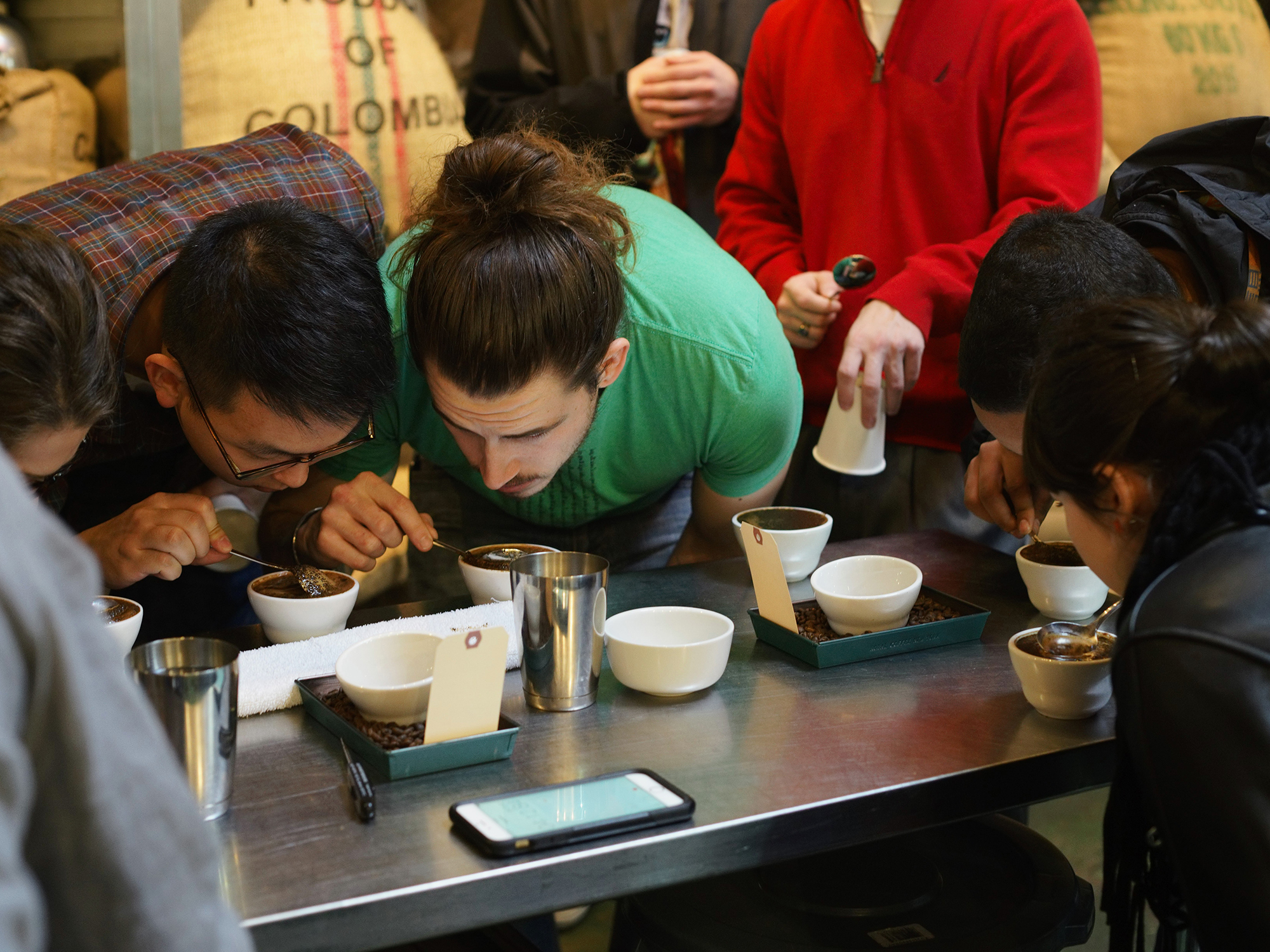 John D. Freyer,  Recovery Roast Cupping event detail, 2015  Image by John D. Freyer