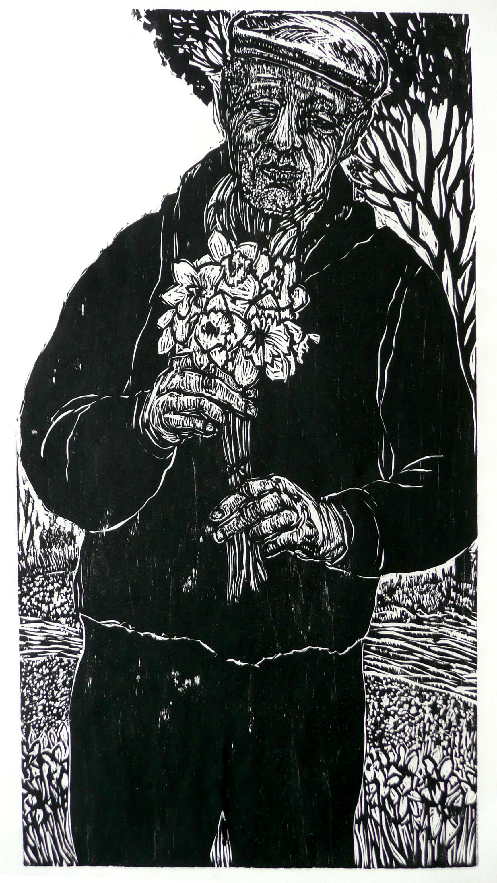 Dennis Winston ,  Springtime , 2005                            Woodcut on Hosho paper, edition of 25 Image courtesy of the artist