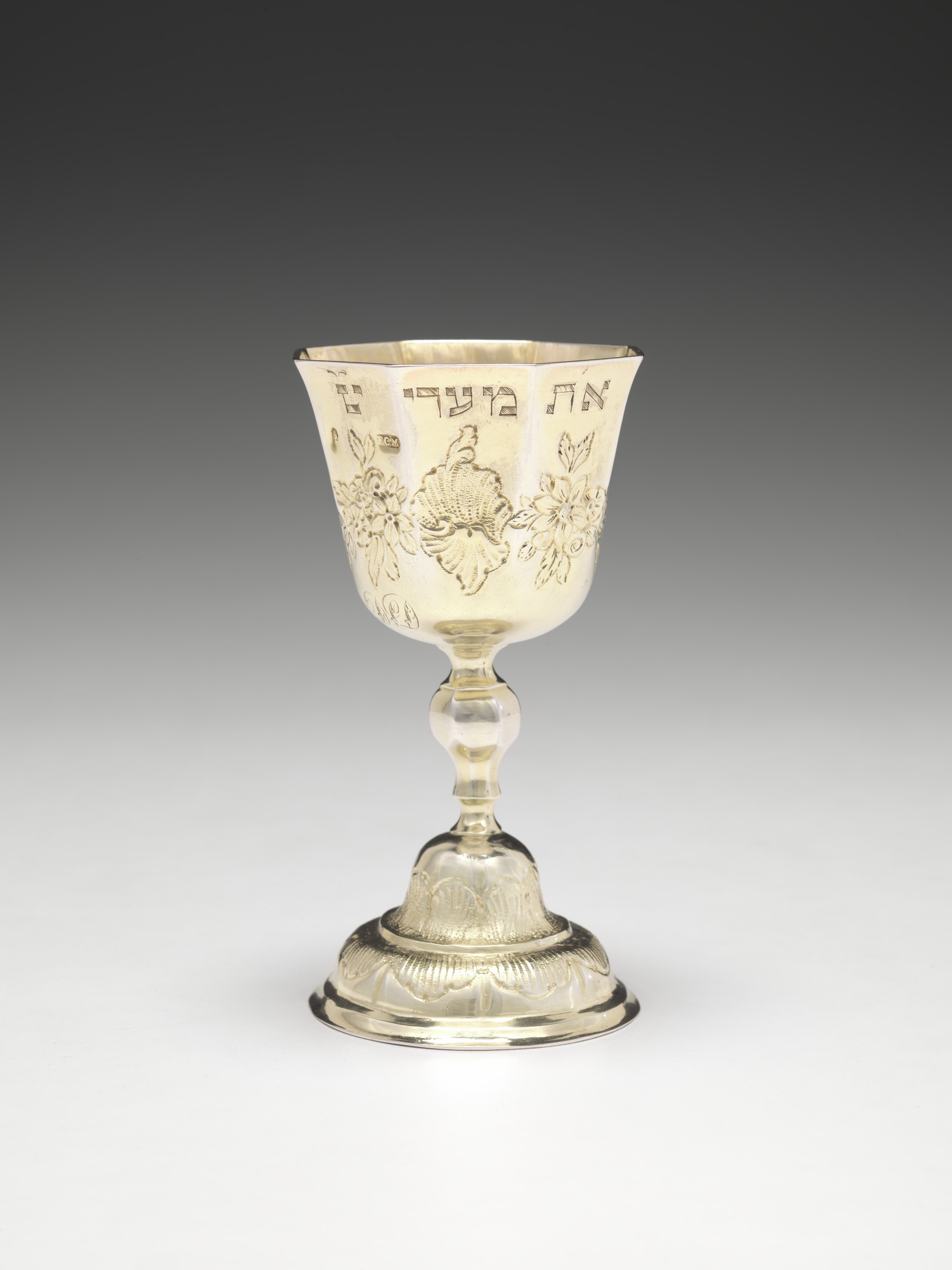 Franz Christoph Mederle,   Kiddush Cup,  ca. 1740  Silver-gilt, Virginia Museum of Fine Arts, Ailsa Mellon Bruce Fund for Decorative Arts  Image courtesy of VMFA