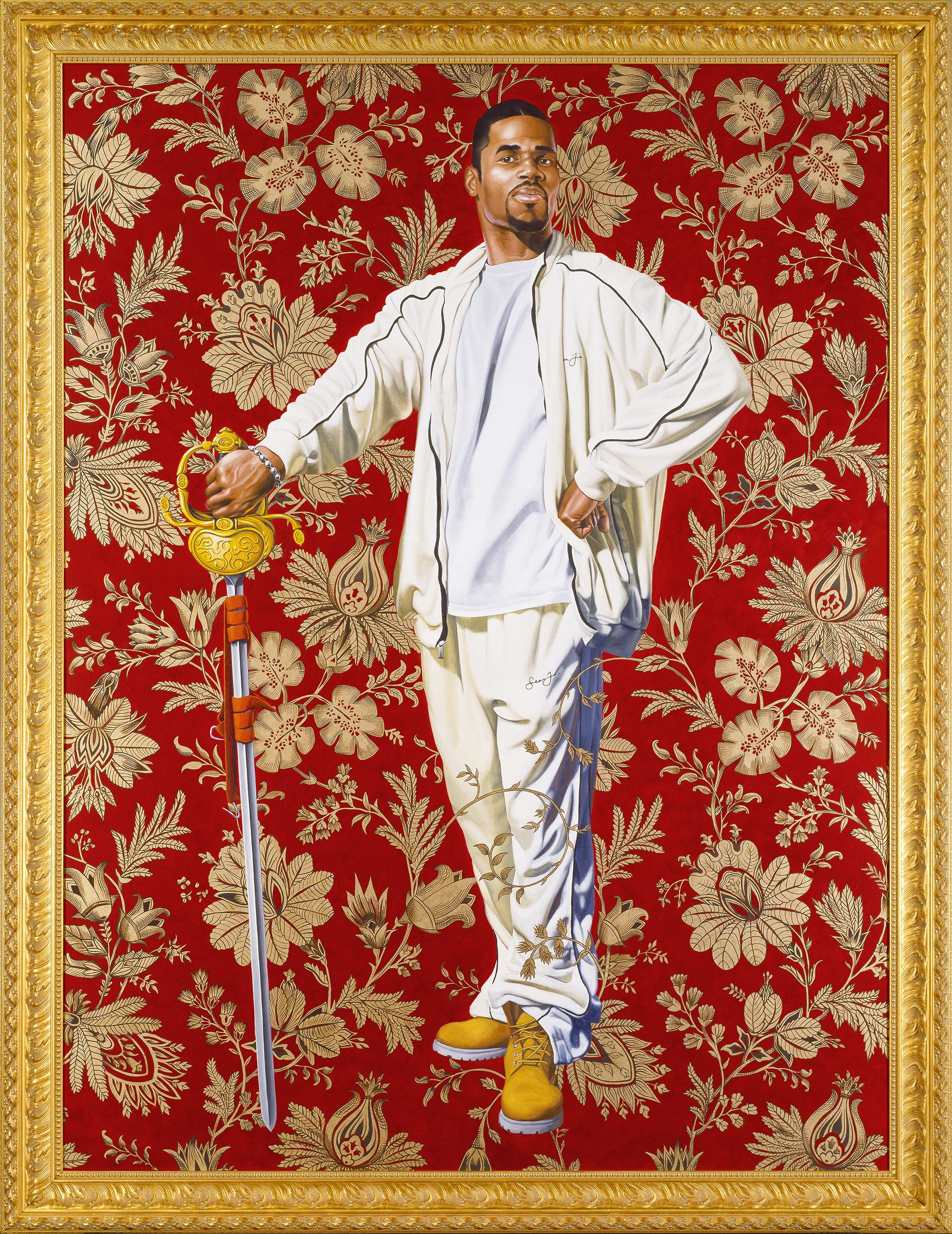 Kehinde Wiley,   Willem van Heythuysen,  2006  Oil and enamel on canvas, Virginia Museum of Fine Arts, Arthur and Margaret Glasgow Fund. © Kehinde Wiley  Image courtesy of VMFA