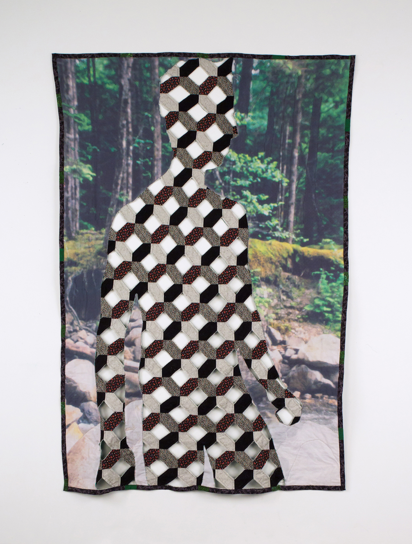 Aaron McIntosh,  Road to Tennessee , 2015  Vintage cotton fabric, digital textile print, batting, thread  Image courtesy of the artist