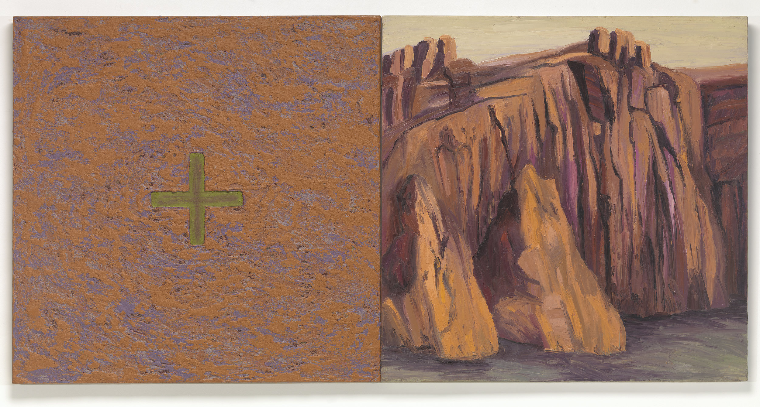 Kay WalkingStick  (Cherokee, born 1935),  Four Directions/Stillness , 1994  acrylic, wax, and oil on canvas  Virginia Museum of Fine Arts; Arthur and Margaret Glasgow Endowment. Photo by Travis Fullerton © Virginia Museum of Fine Arts