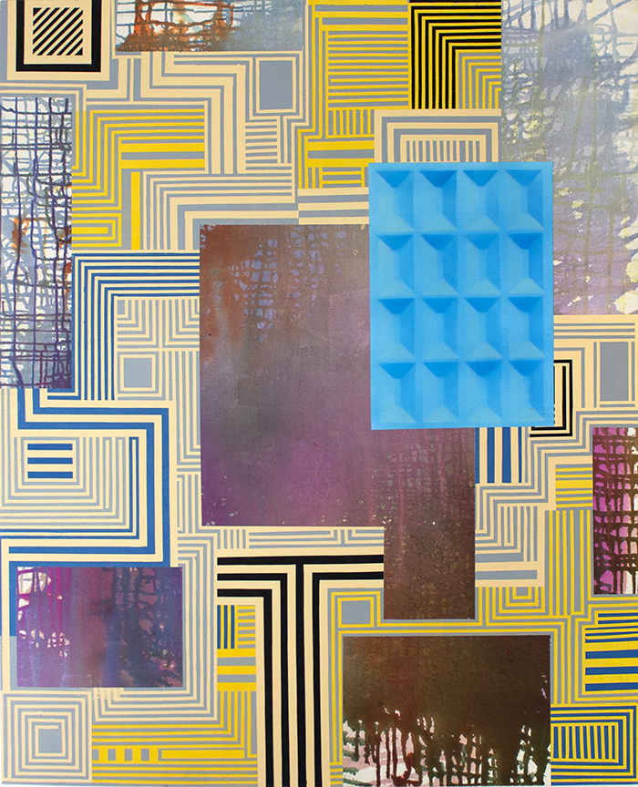 Bruce Wilhelm,   Network (2017)   acrylic on canvas; 52 3/4h x 65 3/4w x 2d   image courtesy of ADA Gallery