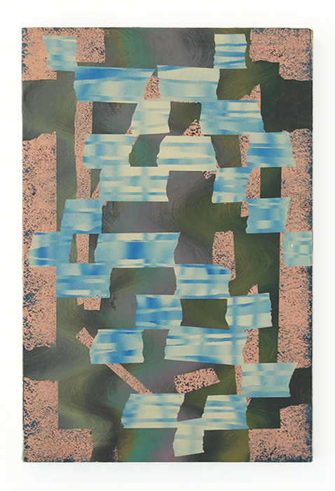 Bruce Wilhelm,   Steady Low Energy (2017)   acrylic on canvas; 24h x 16w x 2d   image courtesy of ADA Gallery