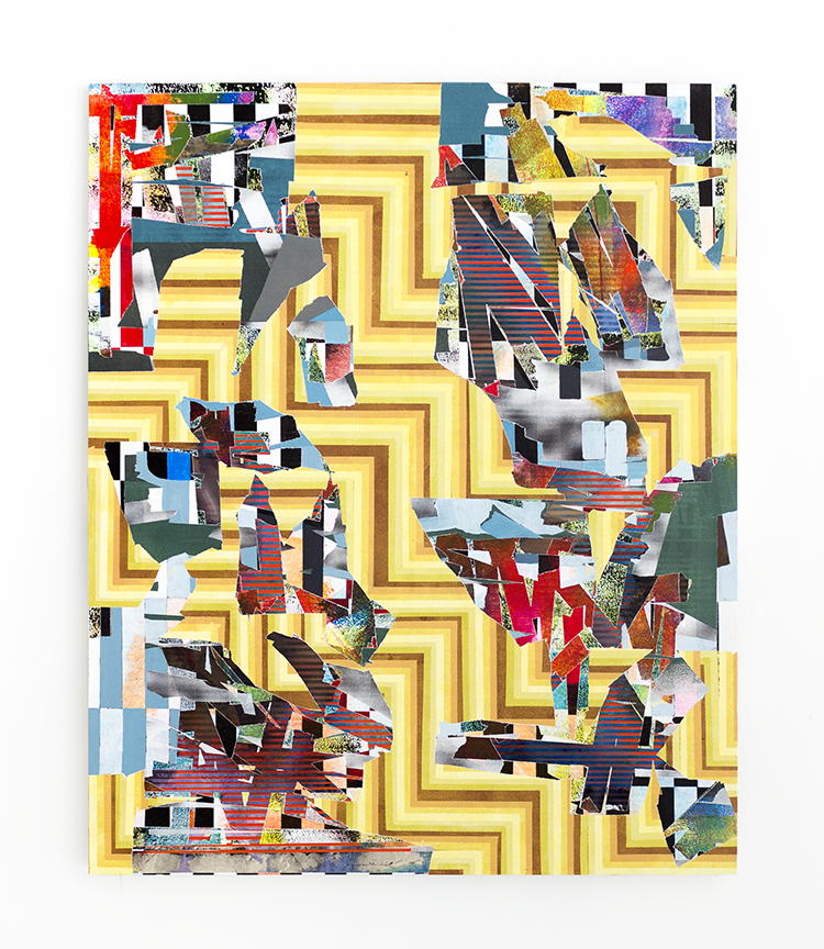 Bruce Wilhelm,   Positive Inefficiency (2017)   acrylic on canvas; 66h x 54w x 2d  image courtesy of ADA Gallery