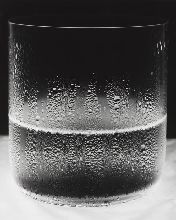 Amanda Means ,   Water Glass 1 , 2011, silver gelatin print, Edition of 5, 51 x 41 inches. Image courtesy of Page Bond Gallery.