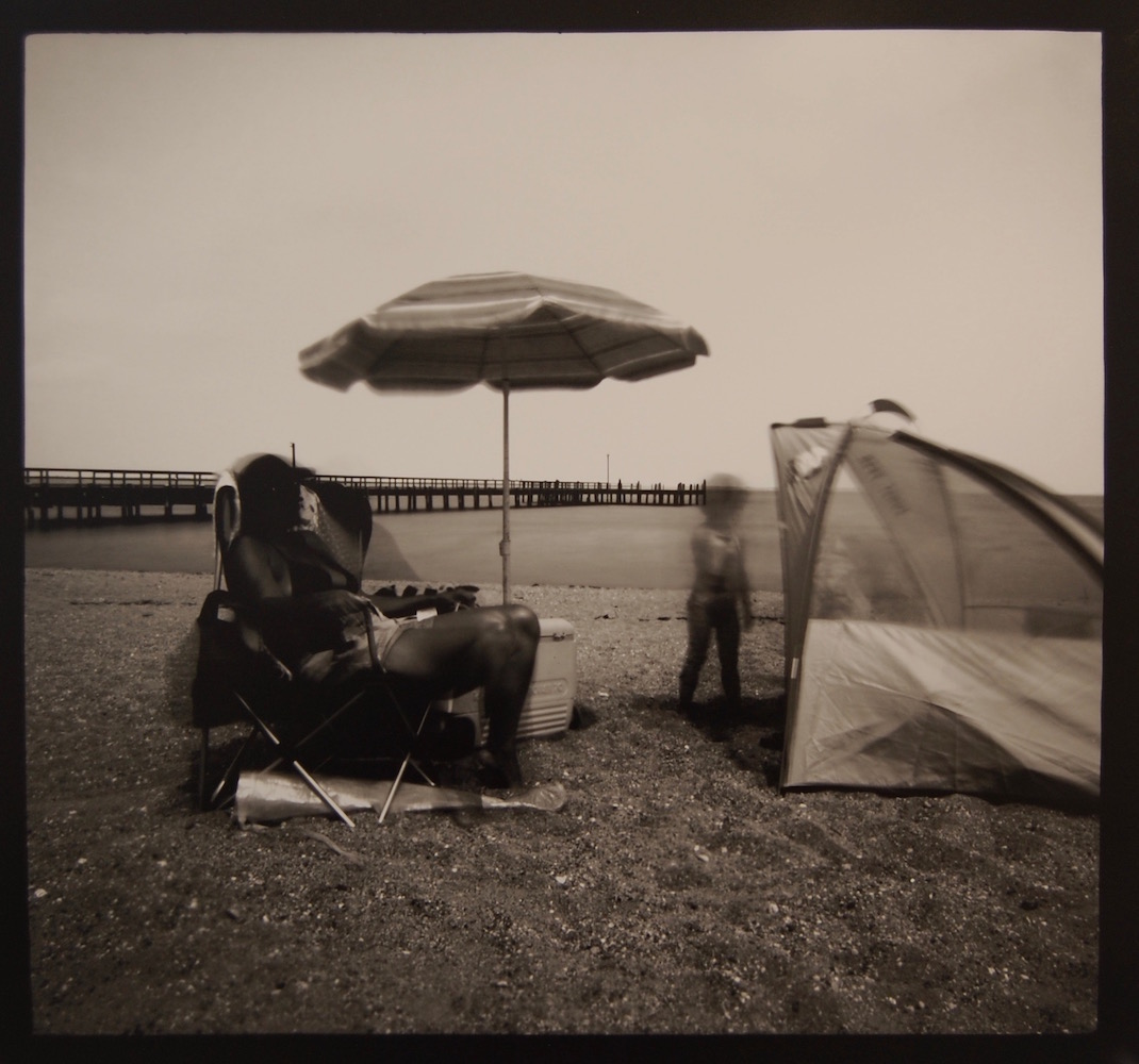Steve Griffin,  Colonial Beach #2,  silver gelatin print, 18 x 19 inches. Image courtesy of Glave Kocen Gallery.