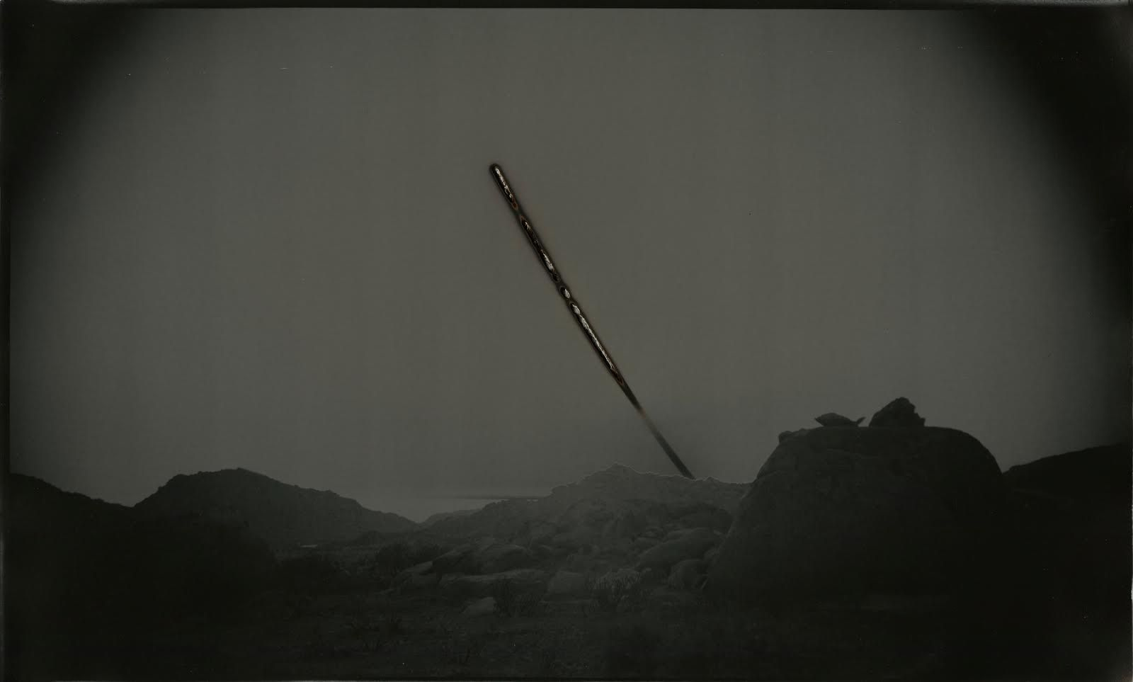Chris McCaw,   Sunburned GSP #699 (Anza Borrego),  2013   Unique Gelatin Silver Paper Negative, 12 x 20  inches  Image courtesy of Candela Books and Gallery