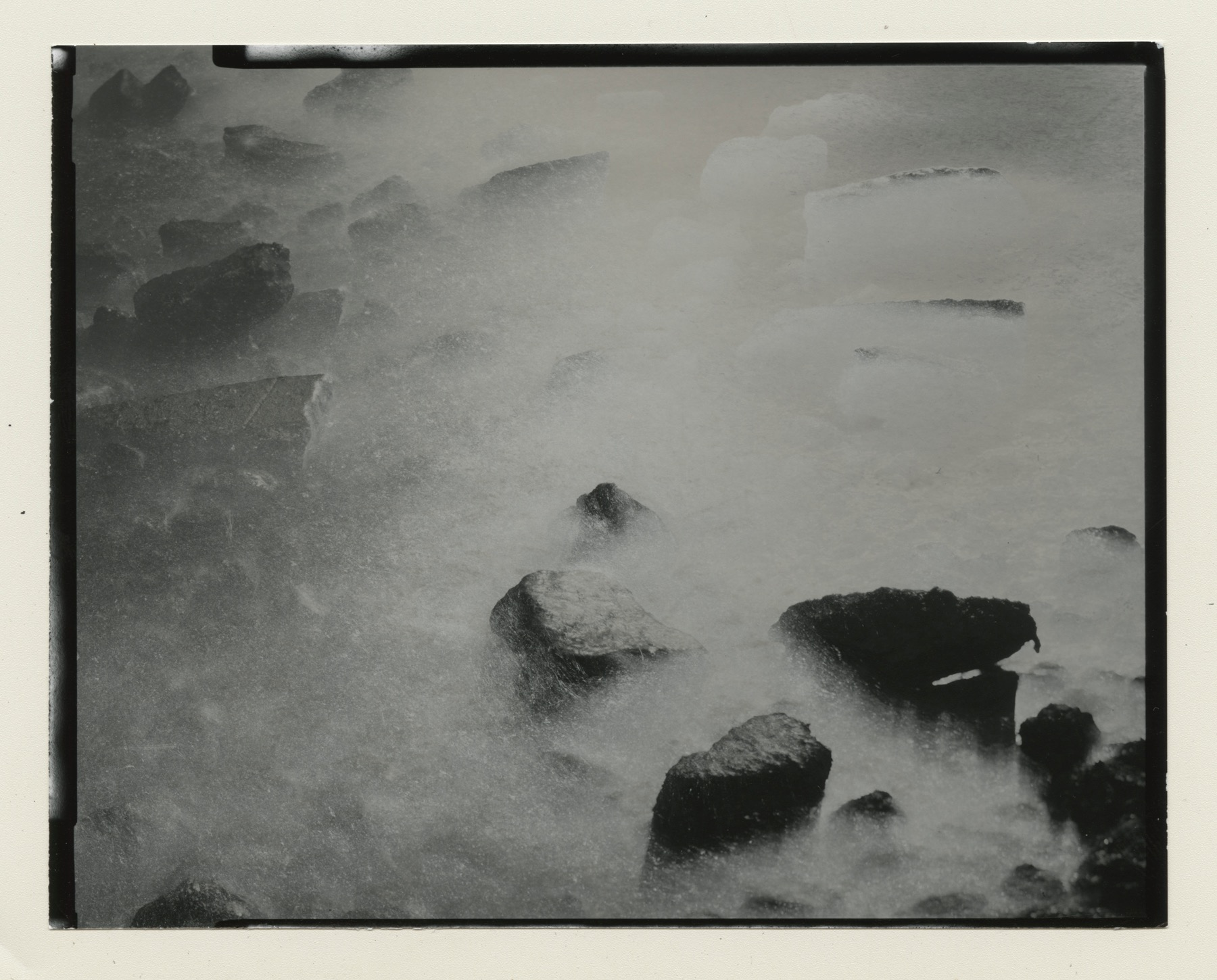 Chris McCaw,   Tidal #13 , 2014  Unique Gelatin Silver Paper Negative, 4 x 5 inches  Image courtesy of Candela Books and Gallery