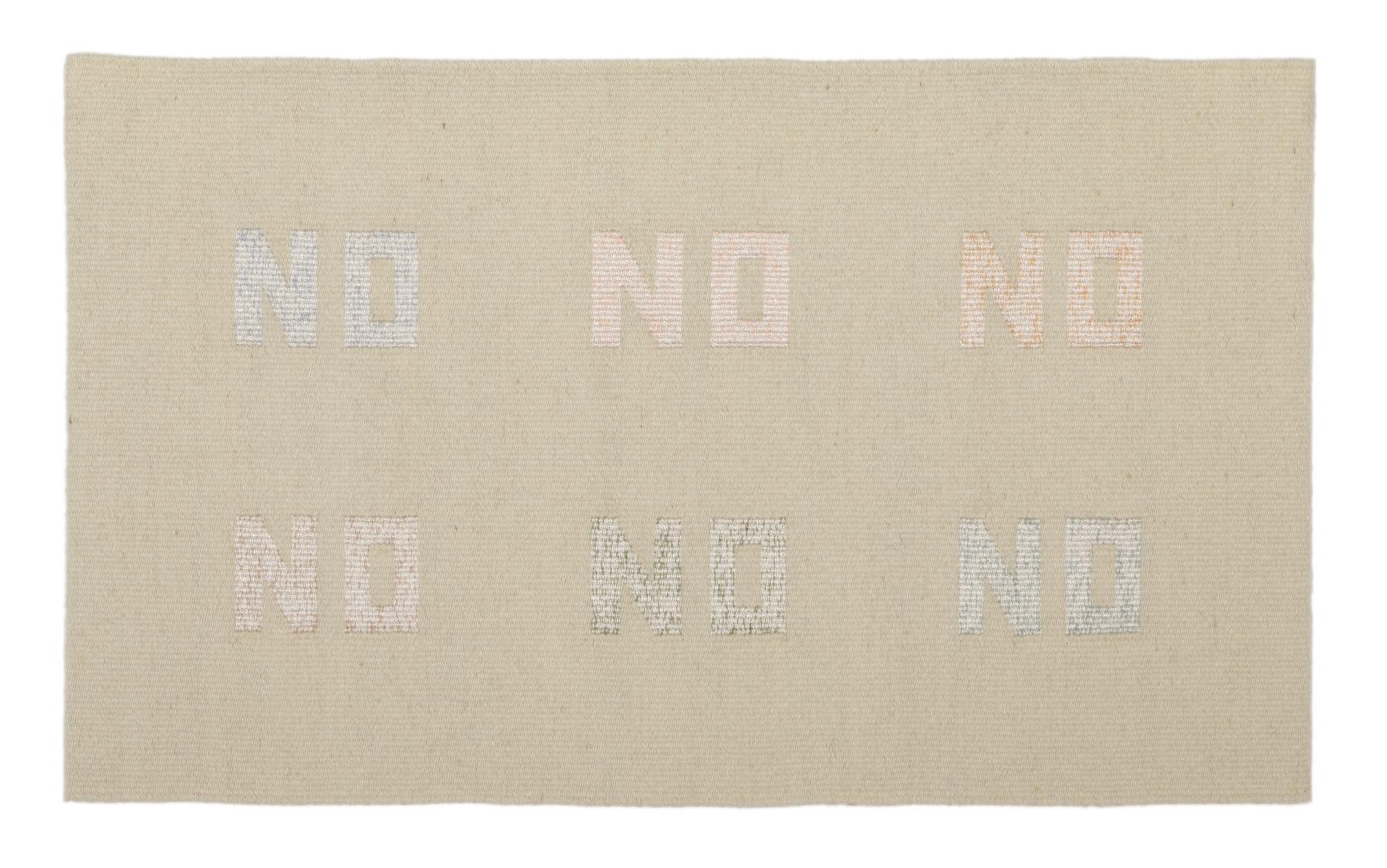 "Susan Iverson,  Whites on White , 2013  wool, silk and cotton on linen warp  21.5"" x 36"""