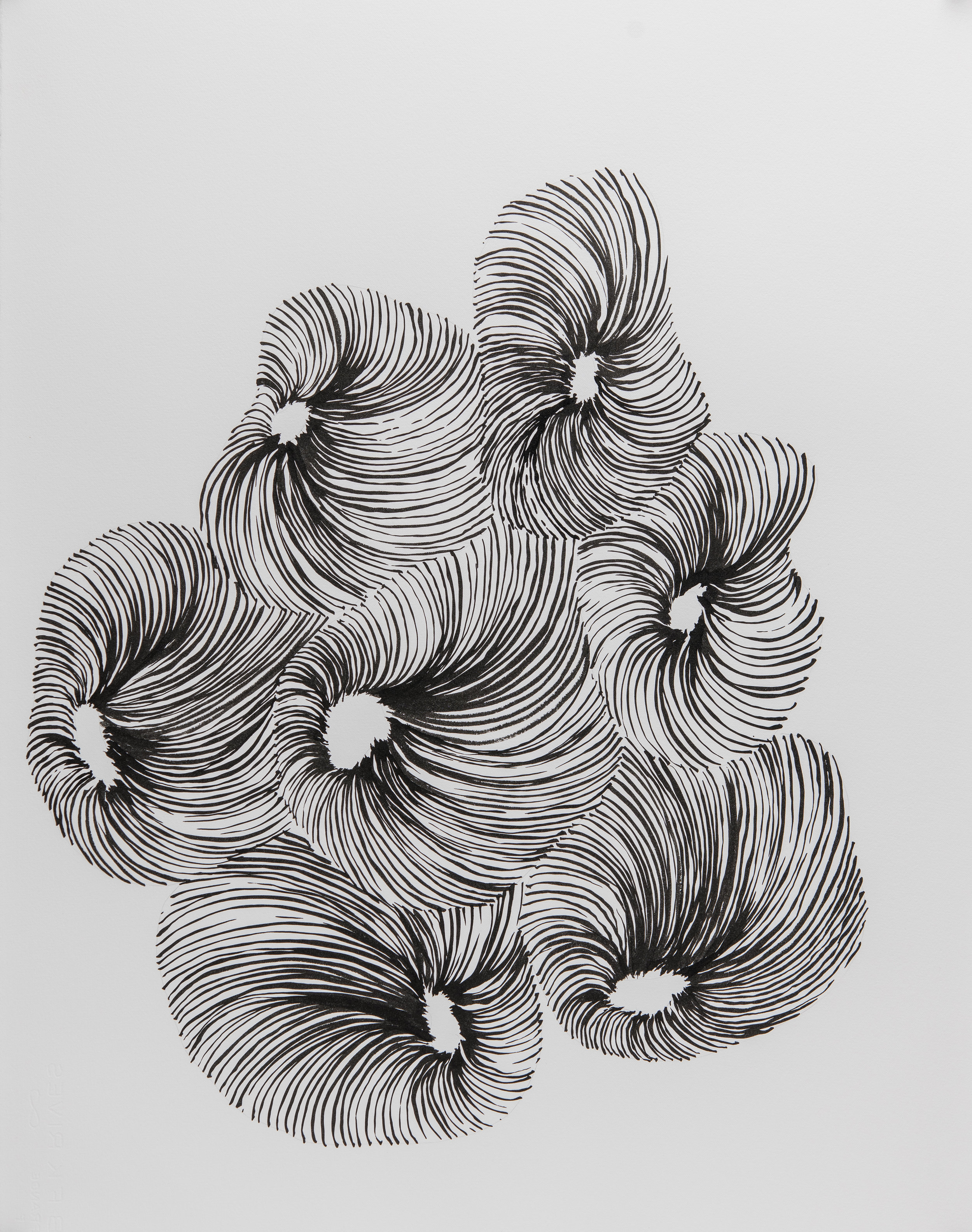 Untitled , 2018, Carlton Newton, Sumi ink on paper, 30 x 22 inches