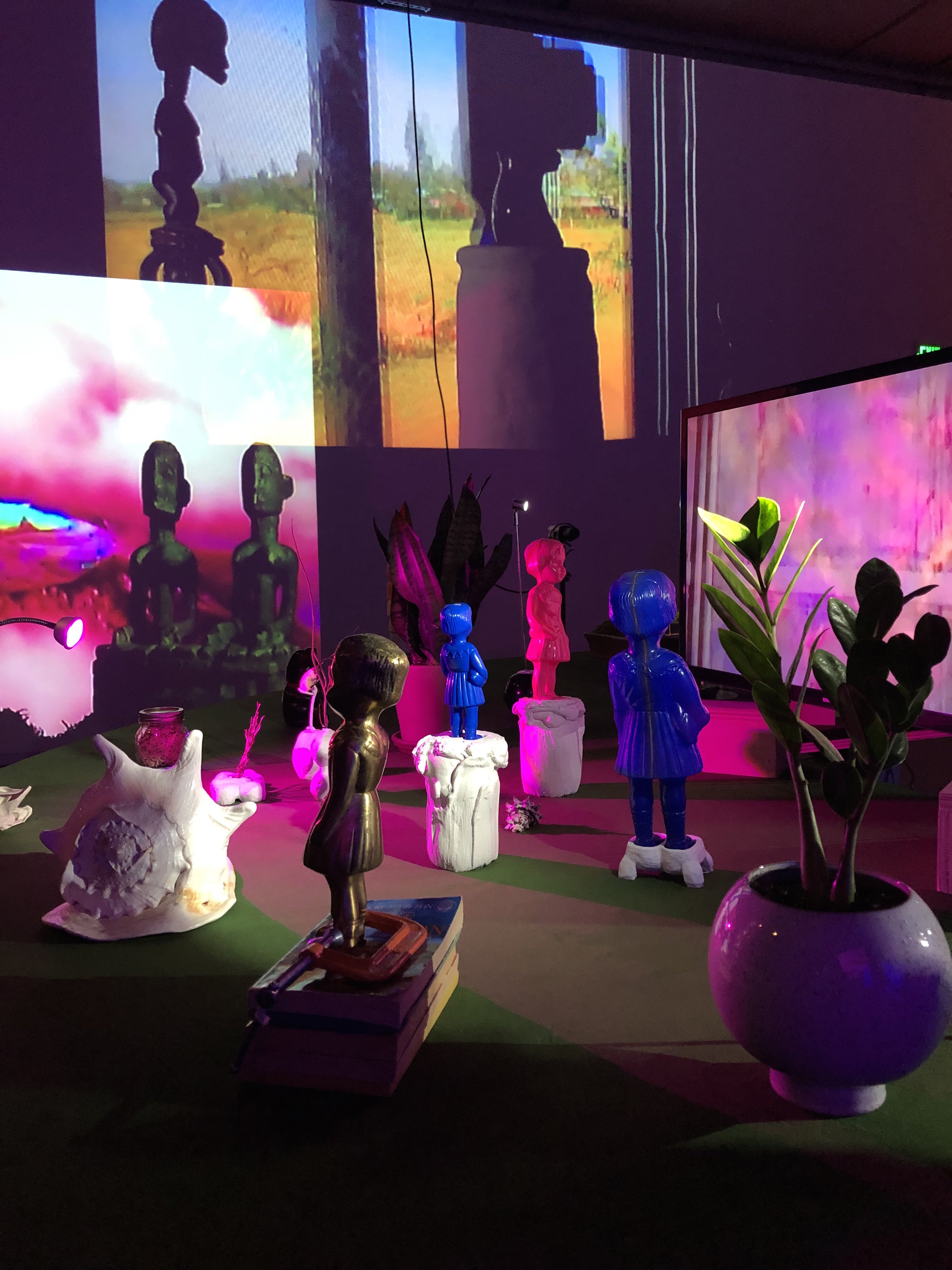 Installation view,  Cauleen Smith: Give It or Leave It, 2019,  Institute of Contemporary Art at VCU. Image courtesy of Paige Goodpasture.