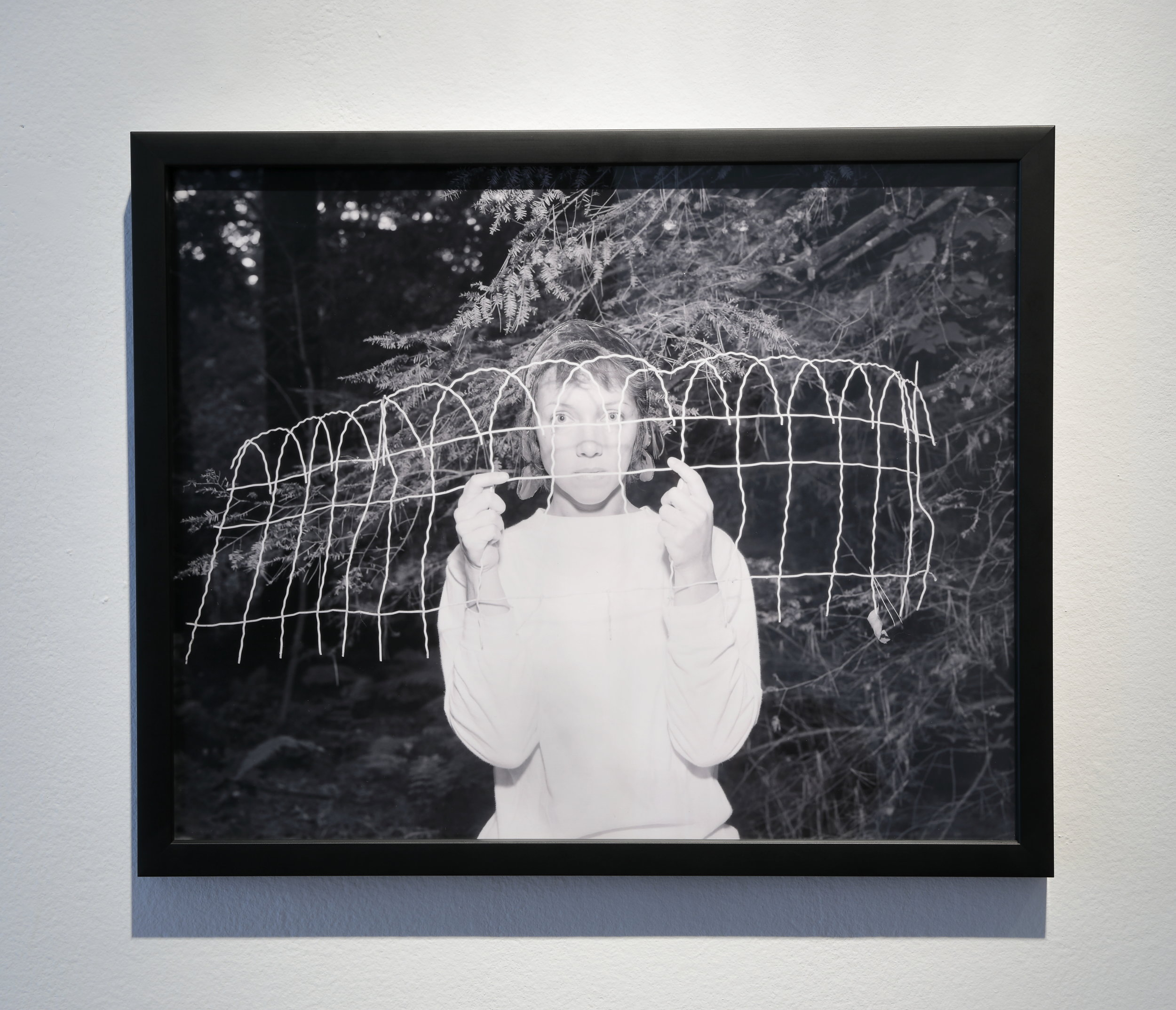 Cindy Neuschwander,   Untitled, (Self Portrait – Highlands, NC) , 1986  Photograph, Ed. of 3 + 1 exhibition copy  Courtesy of Jay Barrows, photo by David Hunter Hale