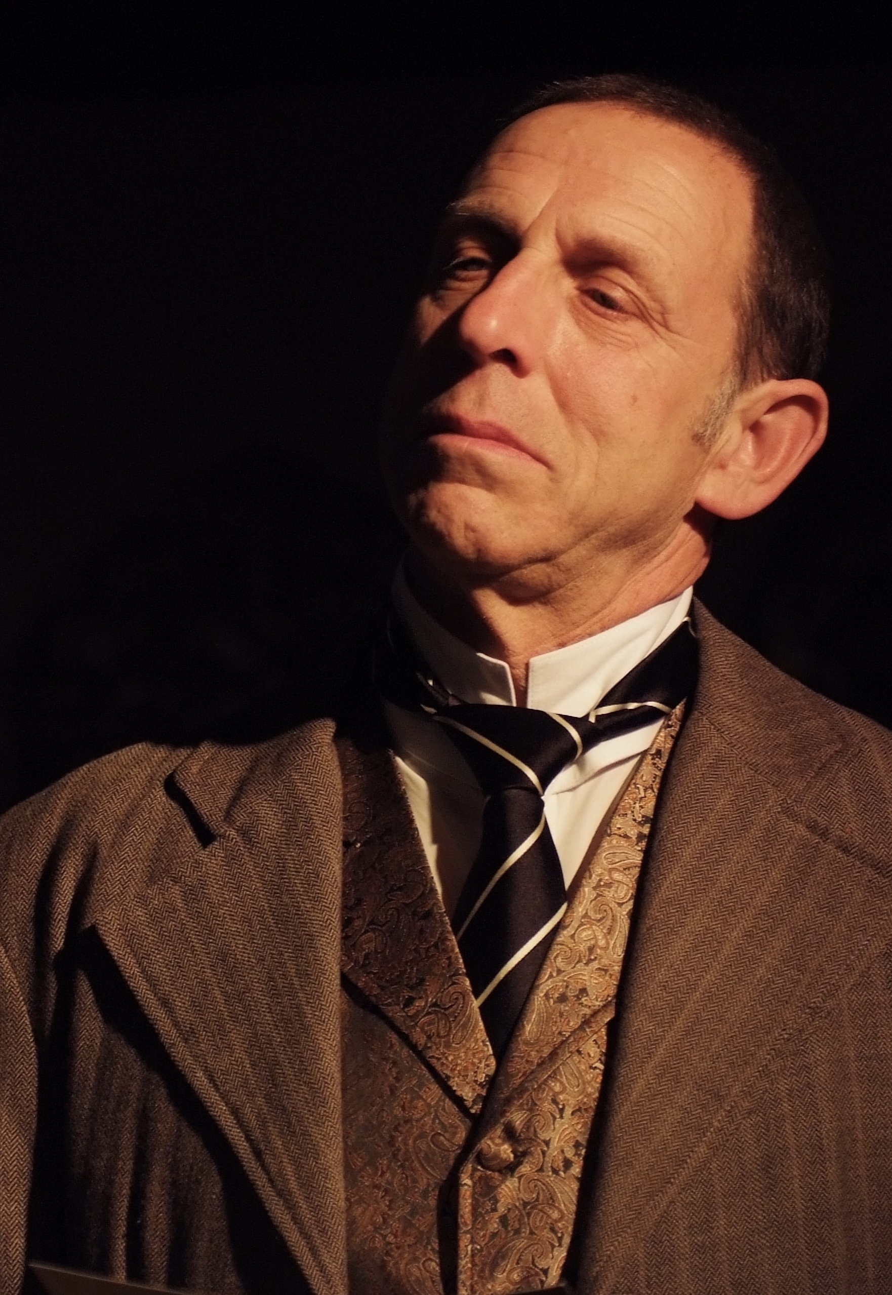 Sal Viscuso (Francis Carr Gomm) in Lascaux Entertainment's 2011 production of  The Elephant Man , directed by John Drouillard.  Photo by Alysa Brennan.
