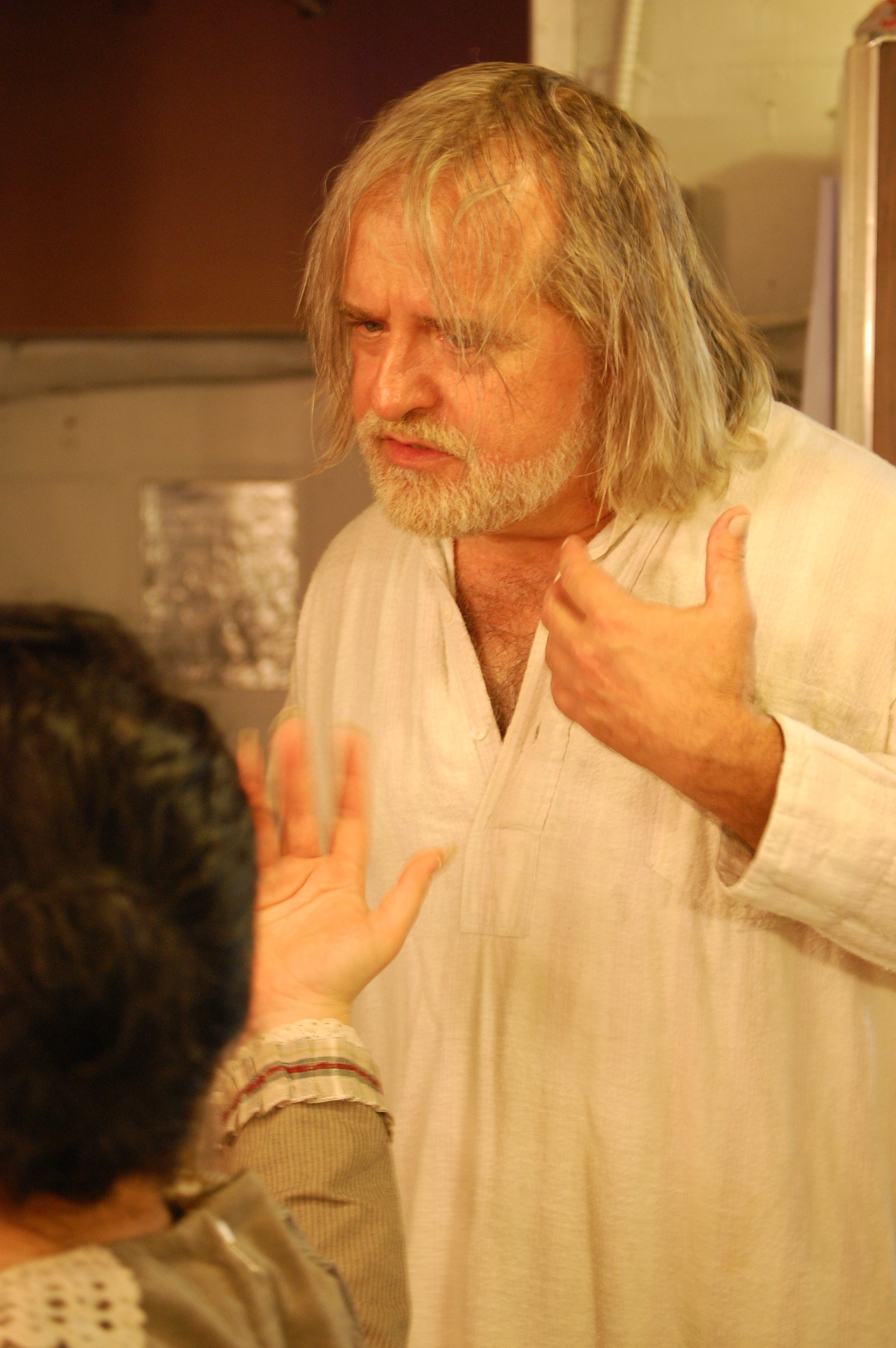 Actor Trent Hopkins backstage during Lascaux Entertainment's 2011 production of  The Elephant Man , directed by John Drouillard.  Photo by Nirvana Kowlessar.