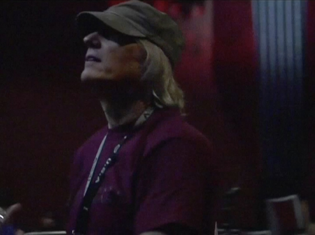 Beethoven's Nightmare drummer Bob Hiltermann during load-in for GLAD & Sprint Relay's 2007 concert  Beethoven's Nightmare Live At The El Rey , produced by Bob Hiltermann, John Drouillard, and Natalie Drouillard.  Still from Worldplay, Inc.'s 2010 feature documentary,  See What I'm Saying , cinematography by Jeff Gatesman, directed by Hilari Scarl.