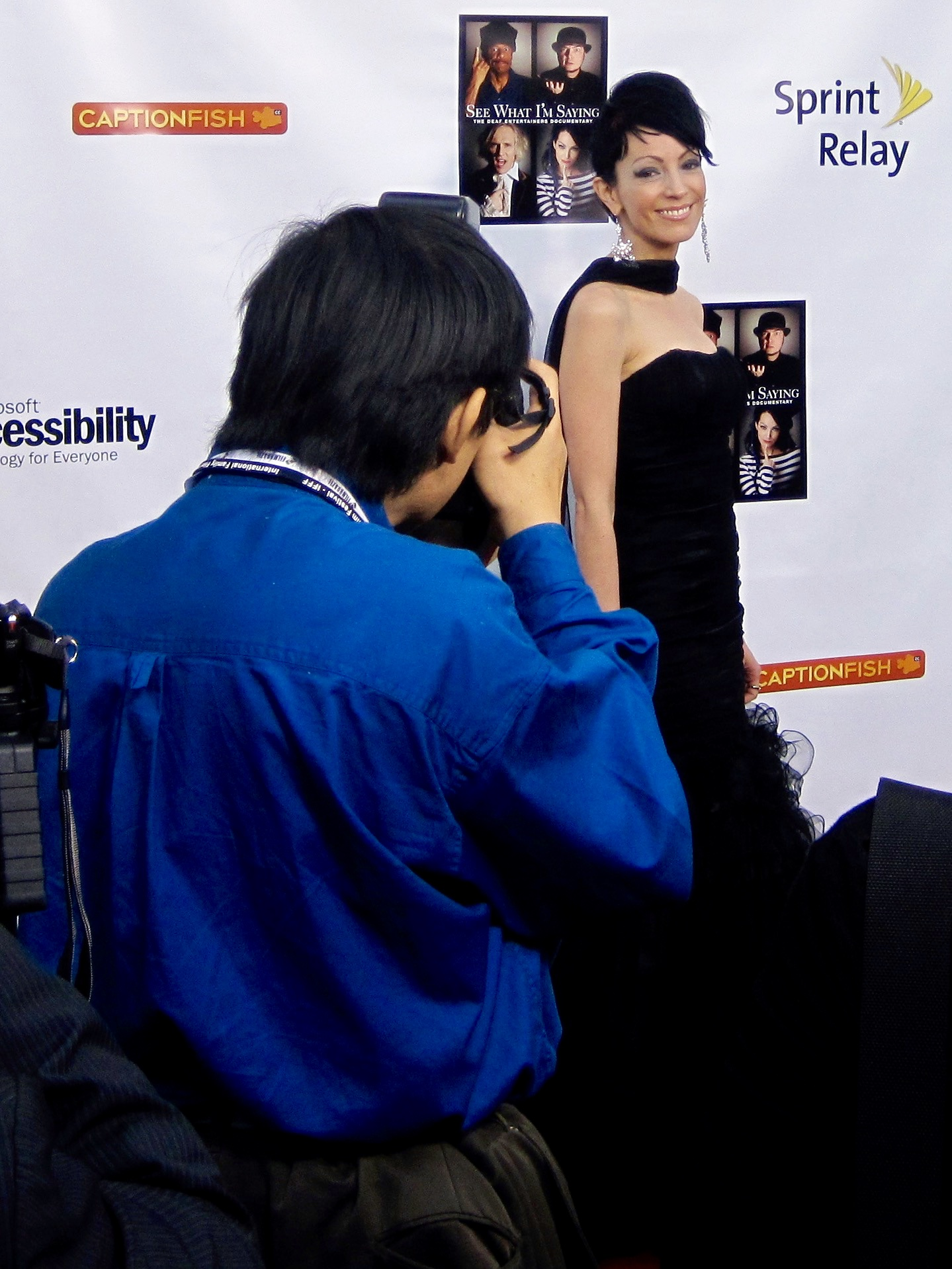 Rock artist TL Forsberg at the Egyptian Theatre for the premiere of Wordplay, Inc.'s feature documentary  See What I'm Saying , directed by Hilari Scarl.  Photo by John Drouillard.