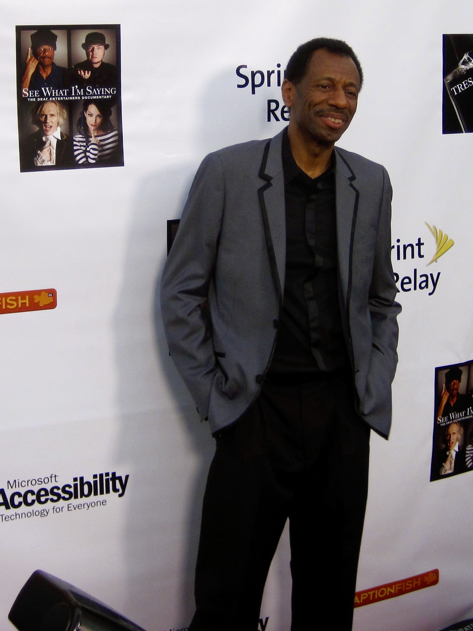 Actor CJ Jones at the Egyptian Theatre for the premiere of Wordplay, Inc.'s feature documentary  See What I'm Saying , directed by Hilari Scarl.  Photo by John Drouillard.
