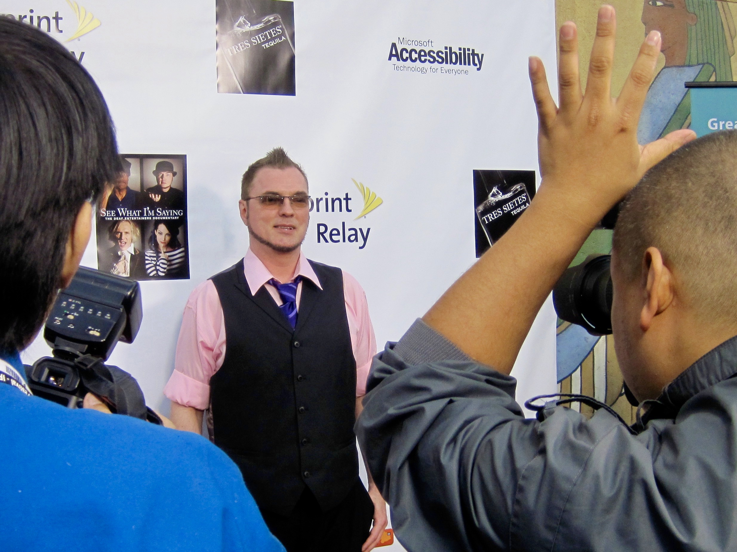 Actor Robert DeMayo at the Egyptian Theatre for the premiere of Wordplay, Inc.'s feature documentary  See What I'm Saying , directed by Hilari Scarl.  Photo by John Drouillard.