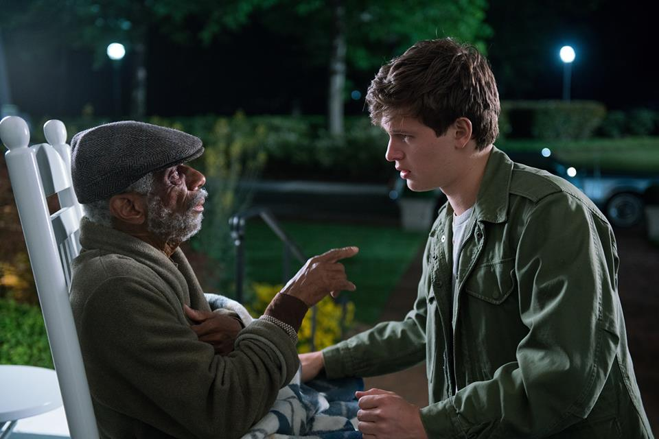 CJ Jones and Ansel Elgort in a scene from Sony Pictures'  Baby Driver , directed by Edgar Wright.