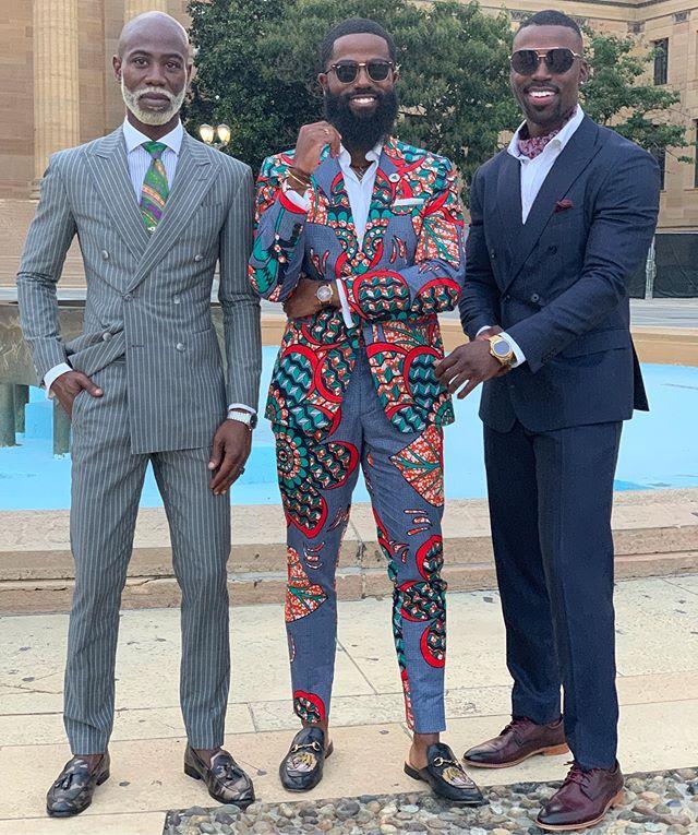 Three Kings 👑👑👑 @theweltheguy @thefull_windsor @nicosuavea #mensstyle #mensstyleguide #mensfashionblog #mensfashionpost #menssuits #menwithstyle #mensstyleblog #blackmenwithstyle #blackmenwithbeards #dappermen #mensdesigner