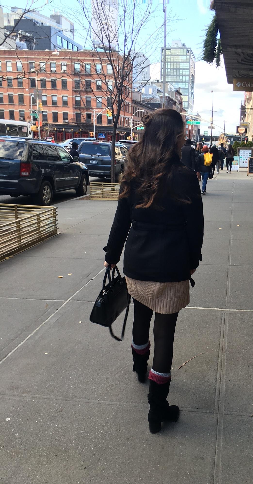 coat ( similar )/dress ( similar )/ bag