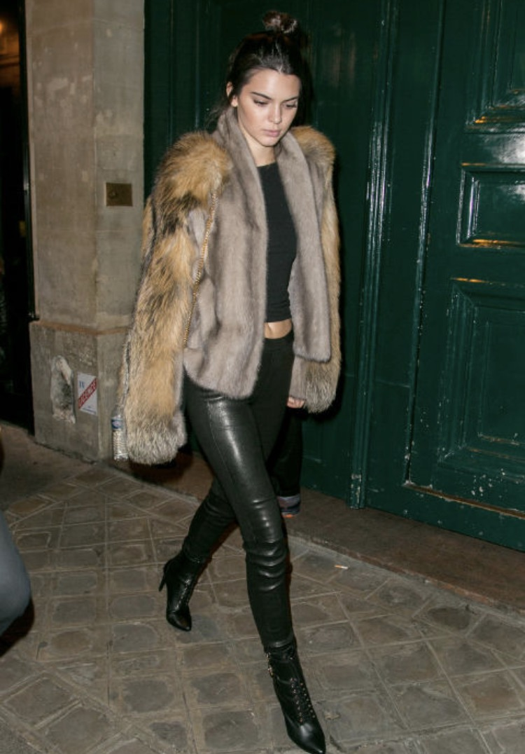 Kylie Jenner with fur coat