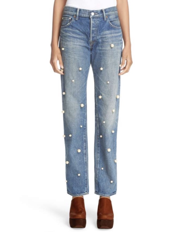 Nordstrom jeans with pearls