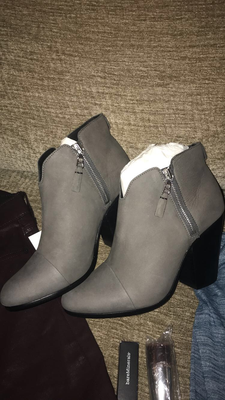 These booties can easily go with any outfit, whether it's fancy or casual!