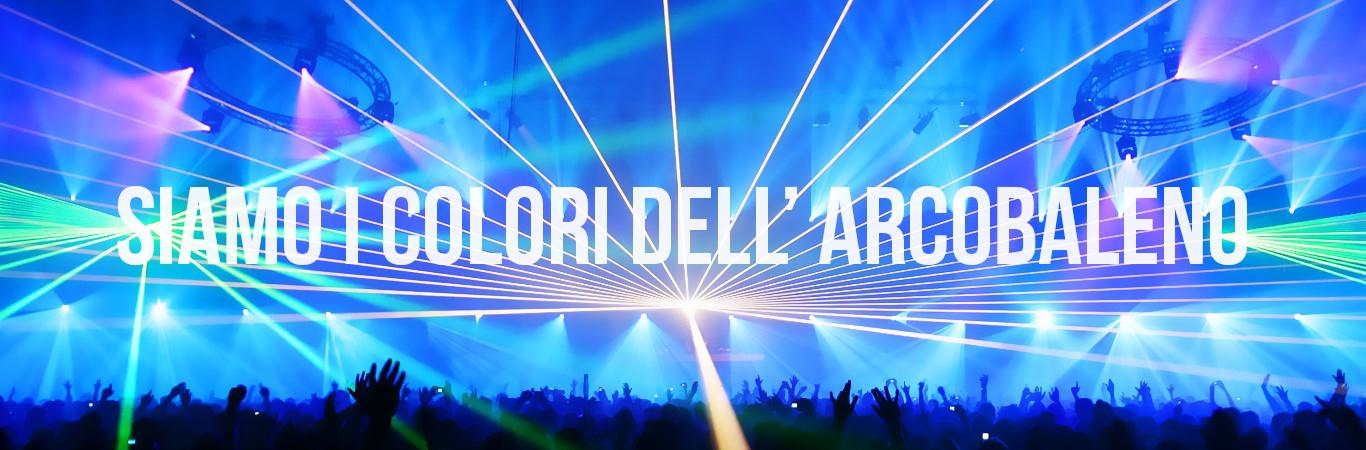 Folla grande festa per musica celebrazione album lyrics arcobaleno