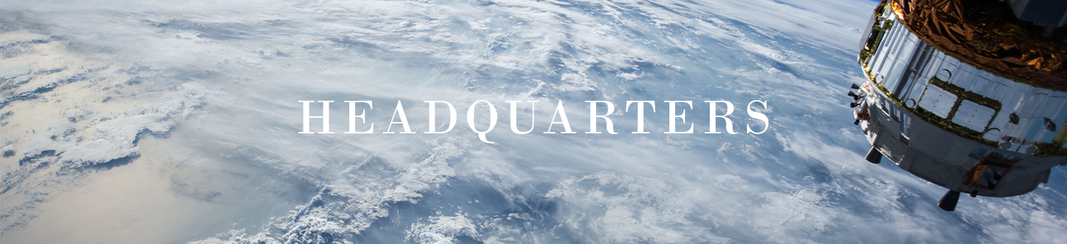 headquarters locations for global church outerspace earth above the clouds