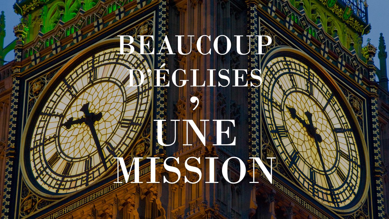 églises avec une mission devant l'horloge de la tour Big Ben à Londres angleterre