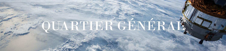 Les quartiers généraux de l'église mondiale dépassent la terre au-dessus des nuages