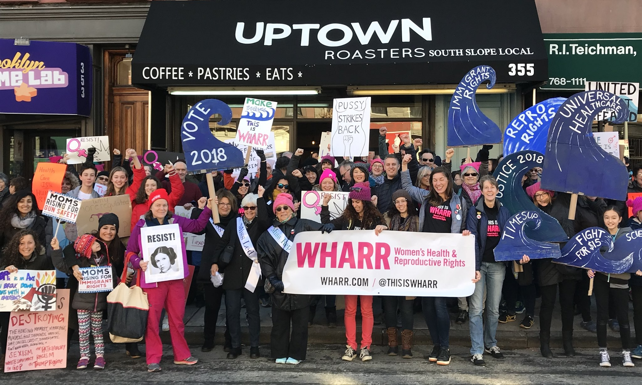 The WHARR + GOBK group meetup for the Women's March on NYC, January 20, 2018