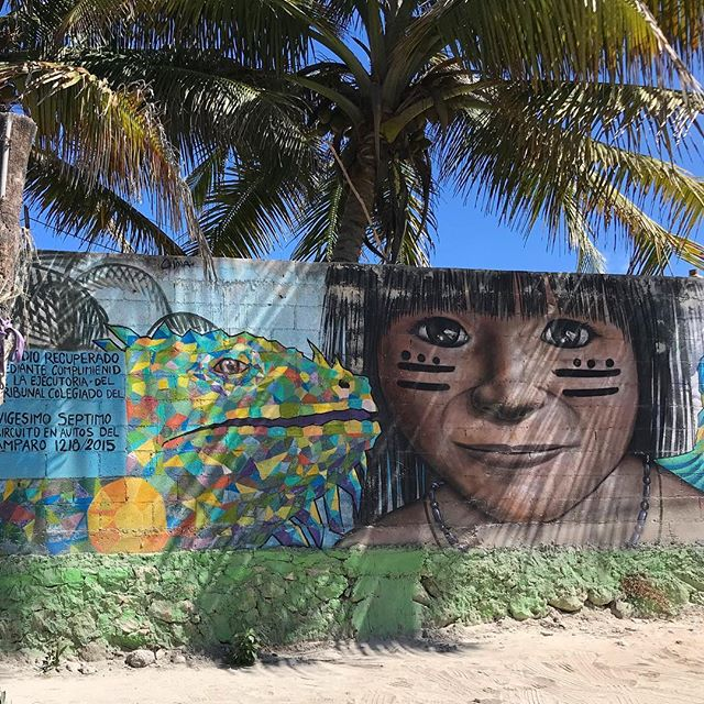 Mexico is full of creative and talented artists who use the streets as their canvases. . The work of art shown here was created in Tulum, which is a museum of street art throughout the town and beach road. . #streetart #tulum #tulumstreetart #streetartmexico #artists #keepalookout #museumofstreetart #creative #mayanart #inspiration #artonthebeach #beachart #thebeachplanner