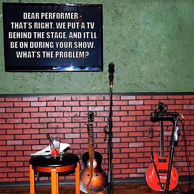 """Pretty sure I'm done with these kinds of gigs.  Somebody told me once that I had to make a decision whether I wanted to be an """"artist"""" or an """"entertainer"""". I choose the former."""