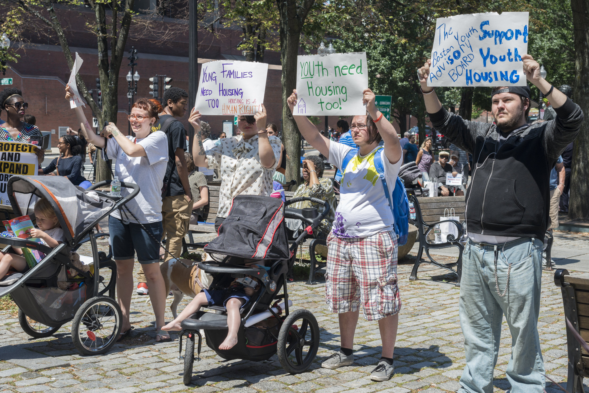CHAPA (Citizens' Housing & Planning Association)  Rally for affordable housing