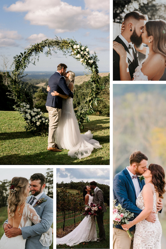Take some inspiration from some of the couples that went before you…(Clockwise from top left: Dave & Alyce, Grace & Jake, Elise & Bernard, David & Tesh, Ashley & Tom)