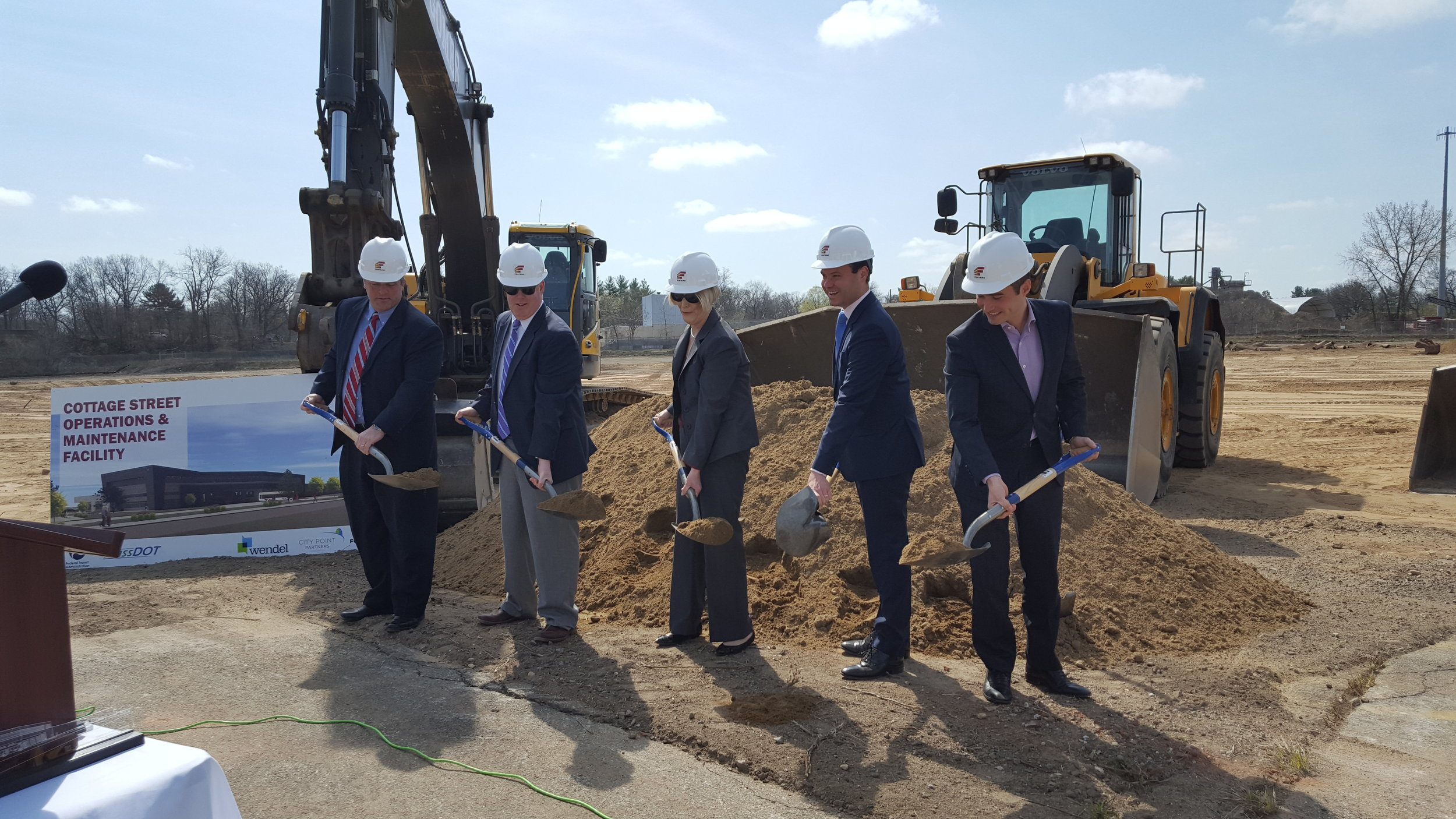 Ground-breaking for PVTA complex on Cottage St.