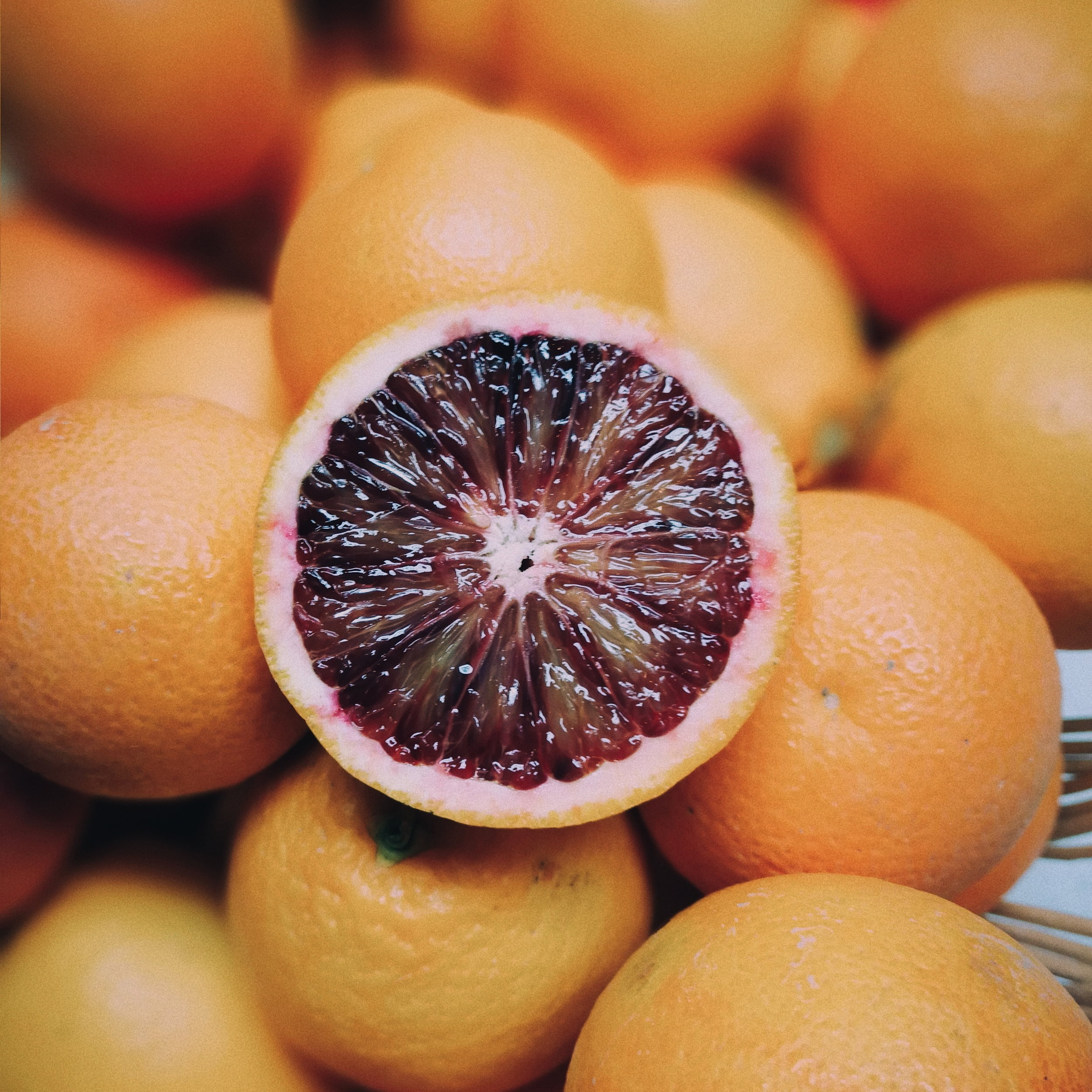 Moro Blood Oranges   Originally from Sicily and thought to be a mutation of another blood orange. The Moro is considered to have the deepest flesh of other blood oranges and has a hint of a berry type taste.