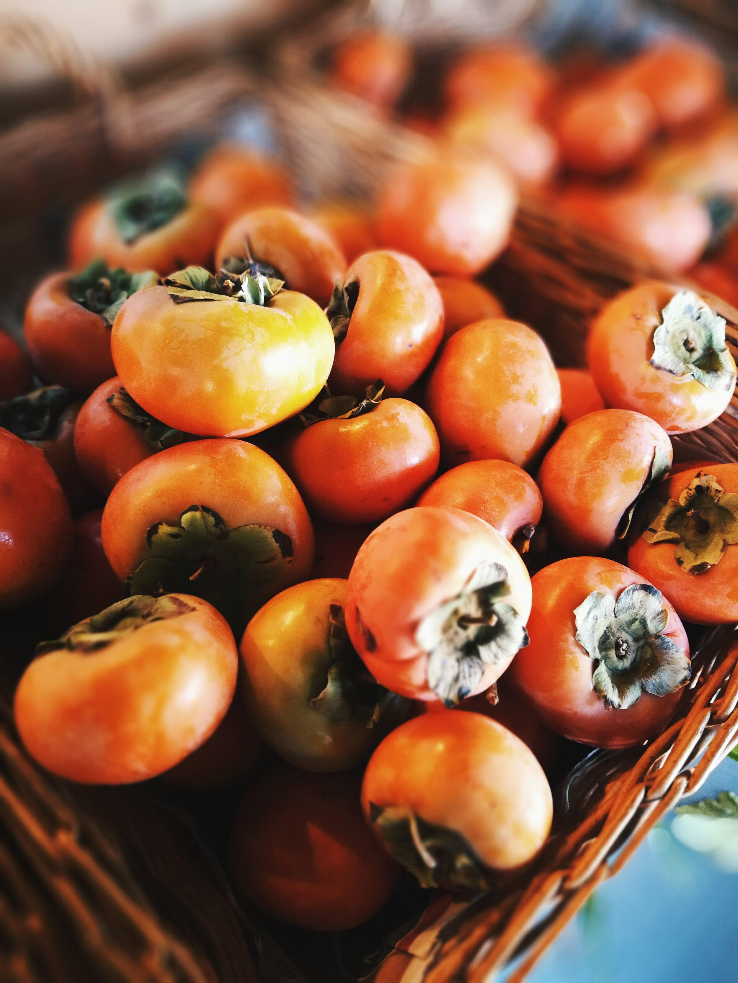Fuyu Persimmons - Fuyu Persimmons are small and squat and are non-astringent which means they can be eaten hard like an apple. There are many varieties of persimmons but many are sold as Fuyus. The larger counterpart of this variety is the Giant Fuyu.
