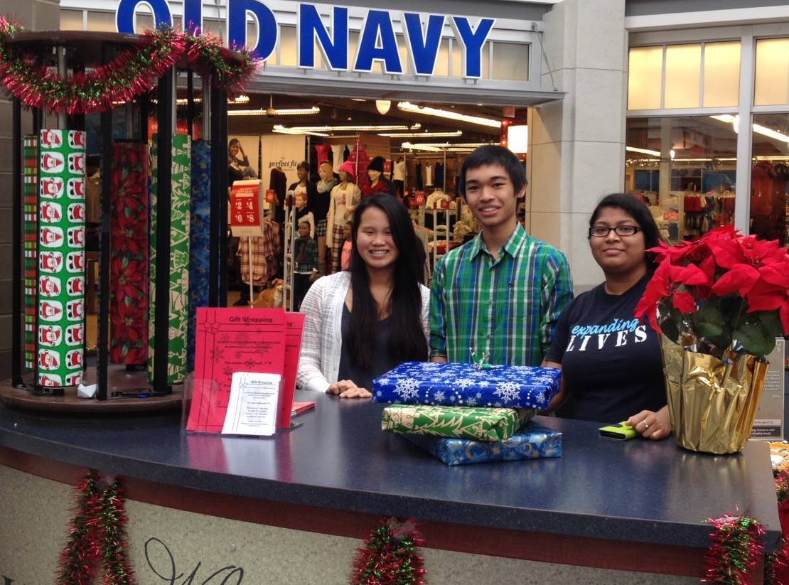 annual gift wrapping  - Volunteers provide gift wrapping at Lincolnwood Mall.