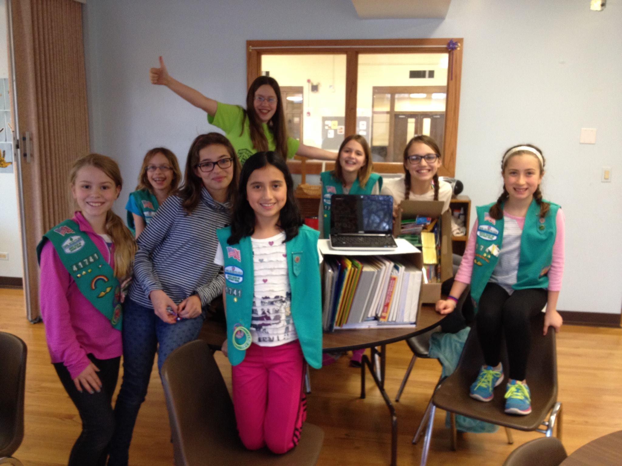Glenview Girl Scout Troop 41741   - The troop collected 400+ items, school supplies & a laptop.