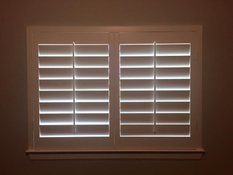 """4 1/2"""" Louvers - most contemporary look - most light allowance when open - least amount of lines in window"""