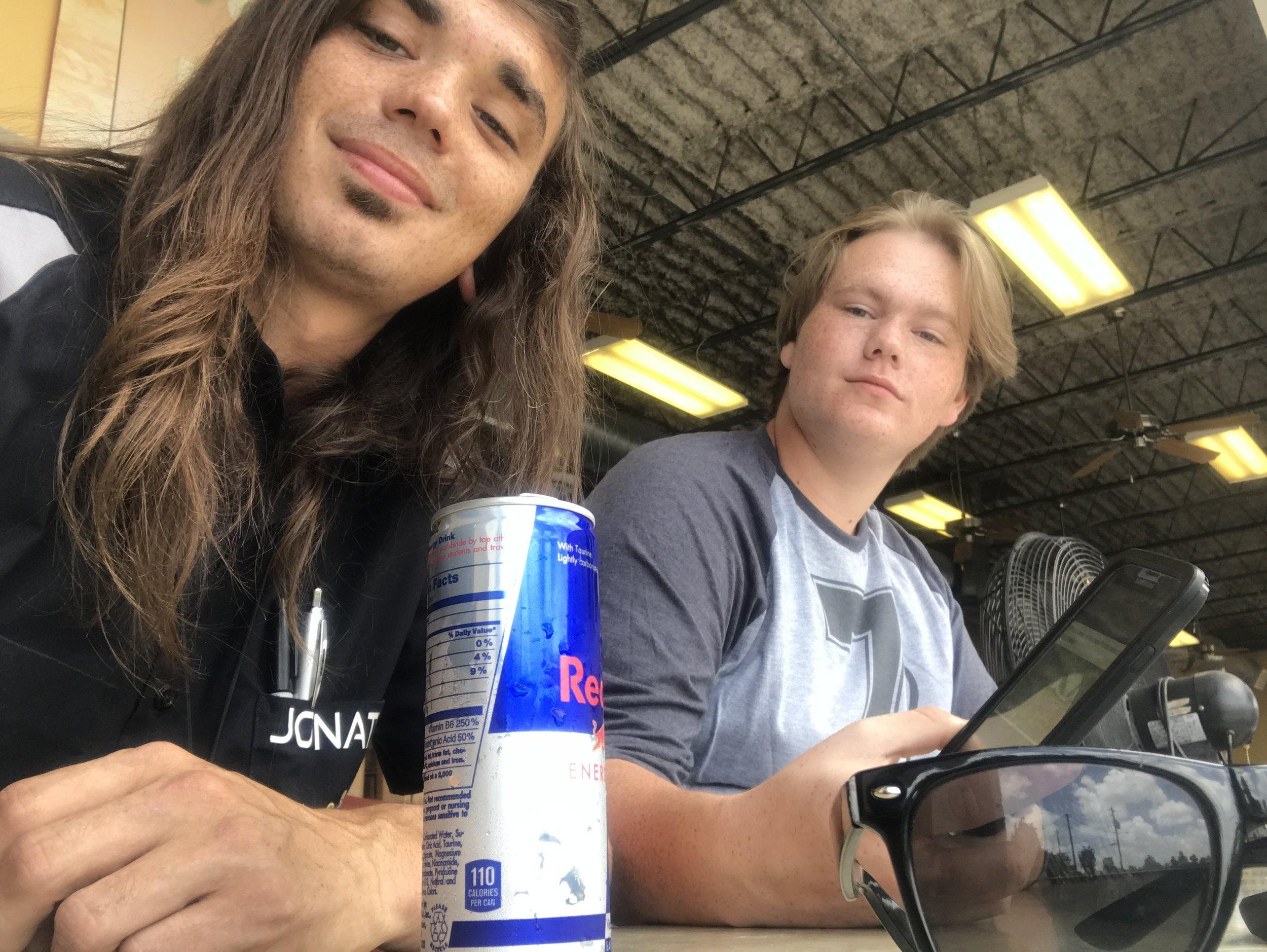 Jonathan & Remington at lunch! #revairtx #htowntechs