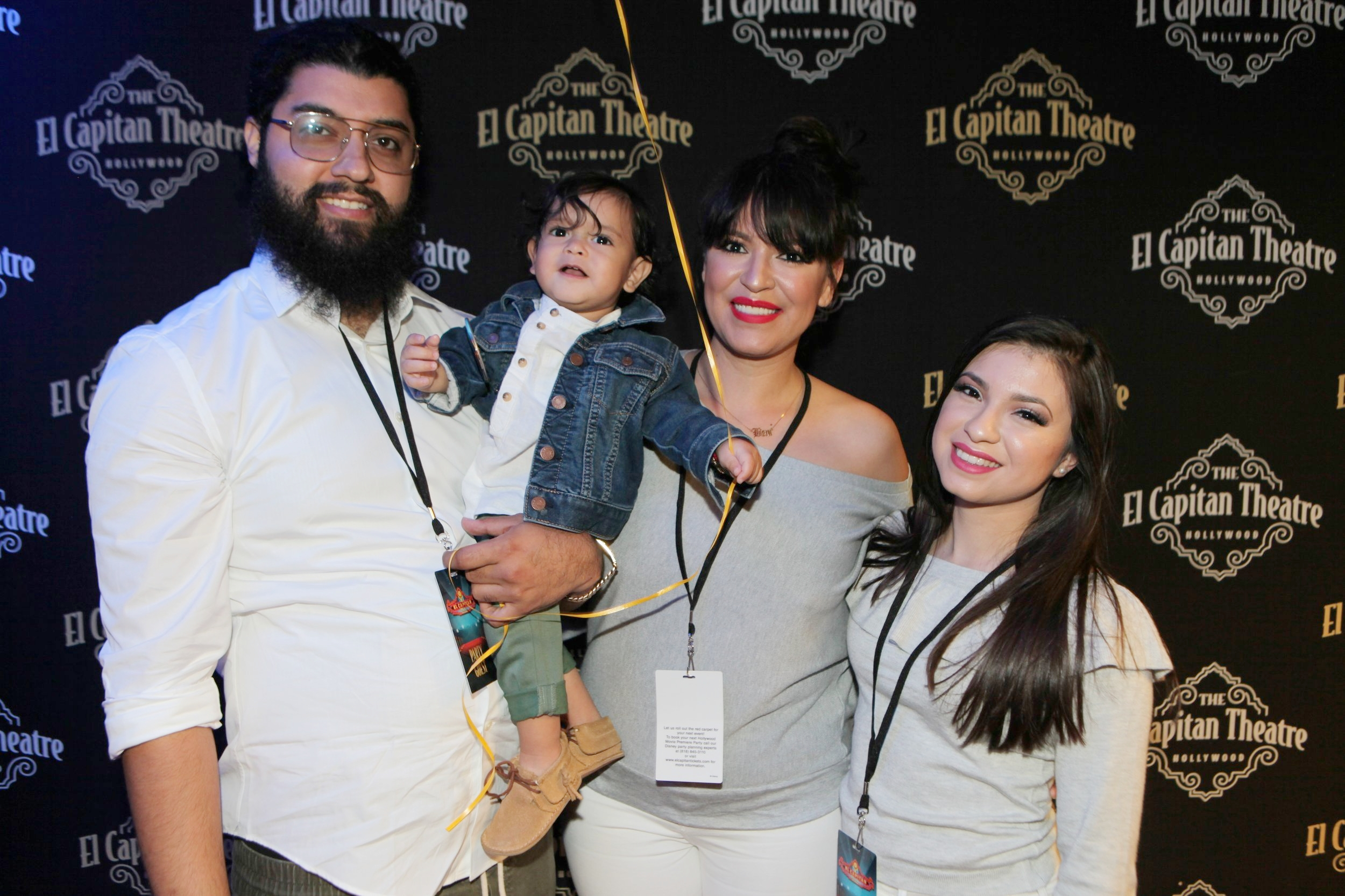 From L to R, Alfonso (Luz' boyfriend), their son Beni, Luz Warrior and daughter Elizabeth.