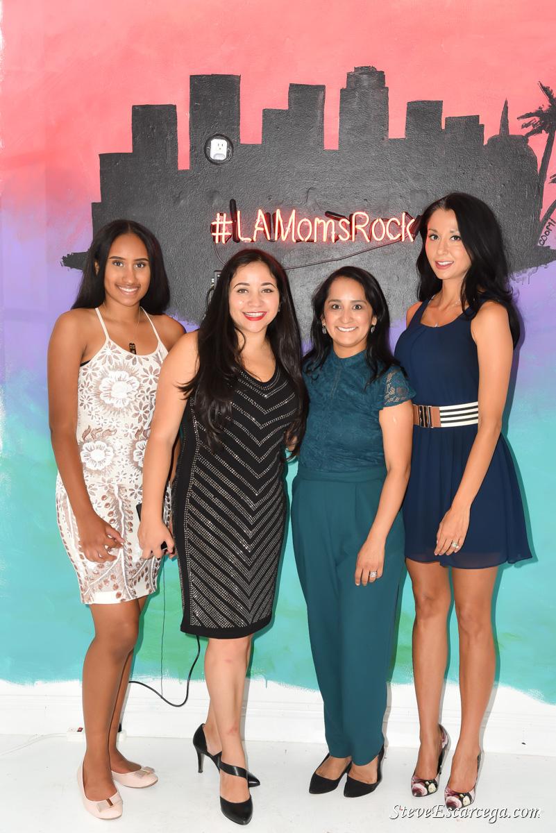 From L to R: Hailey Zolliman standing next mom Nancy Lozano-Stecyk; Nadia Hernandez and Karina Sergi.